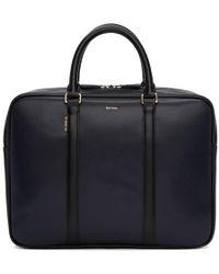 Paul Smith Navy New City Slim Business Folio Briefcase - Blue