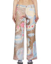 Chopova Lowena Ssense Exclusive Colour Faye Wei Wei Marbled Jeans - Multicolour