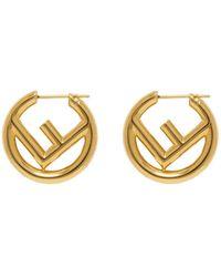 Fendi Gold F Is Earrings - Multicolour