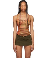 CHARLOTTE KNOWLES Red Halcyon Tank Top - Multicolour