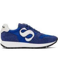 Paul Stuart S-dash Logo Retro Sneakers - Blue