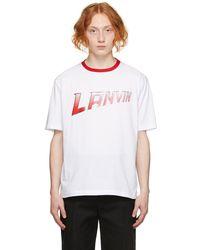 Lanvin ホワイト ロゴ T シャツ