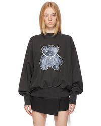 we11done グレー Pearl Necklace Teddy Bear スウェットシャツ