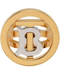 Burberry ゴールド Circle Tb シグネット リング - メタリック