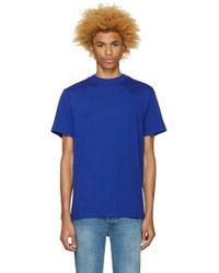T By Alexander Wang - Blue High Neck T-shirt - Lyst