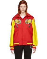 Opening Ceremony - Red China Global Varsity Jacket - Lyst