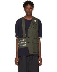 Undercover - Khaki Half Military Vest - Lyst