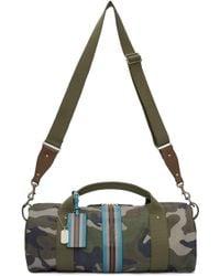 Valentino - Green Camo Stripe Duffle Bag - Lyst