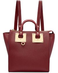 Sophie Hulme - Burgundy Small Holmes Backpack - Lyst
