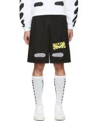 Off-white c/o virgil abloh Diagonal Brushed Mesh Shorts in Black ...