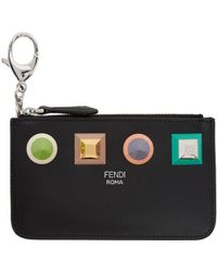 Fendi - Black Rainbow Coin Pouch - Lyst