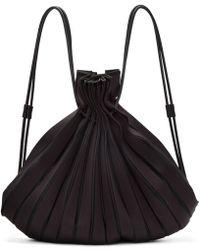Issey Miyake - Black Linear Knit Rucksack - Lyst