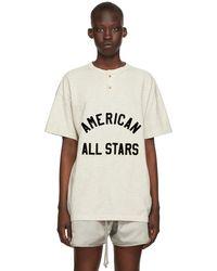 Fear Of God T-shirt henley 'all star' blanc cassé
