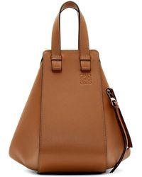 Loewe Tan Small Hammock Bag - Brown