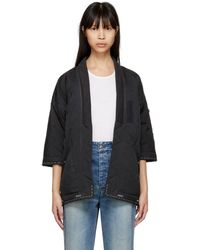 Visvim - Black Down Sanjuro Kimono Jacket - Lyst