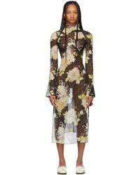 CHARLOTTE KNOWLES Ssense Exclusive Black Serpent Dress - Multicolour