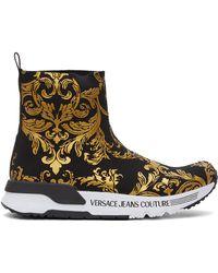 Versace Jeans Couture - ブラック & ゴールド Baroque Dynamo スニーカー - Lyst