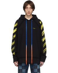 Off-White c/o Virgil Abloh - Ssense 限定 ブラック アロー Incomplete フーディ - Lyst