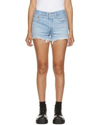 Levi's Blue Denim 501 Original Shorts