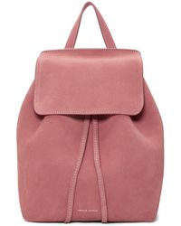 Mansur Gavriel - Pink Suede Mini Backpack - Lyst