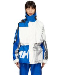 GmbH - White And Blue Colorblock Jeenu Anorak - Lyst