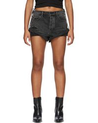 Alexander Wang Short en denim noir Hike - Gris