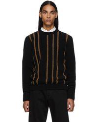 Ferragamo ブラック ウール クルーネック セーター
