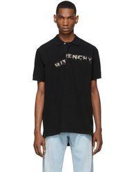 Givenchy - ブラック オーバーサイズ グラフィティ ロゴ ポロ - Lyst