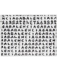 Balenciaga ホワイト & ブラック ロゴ カード ケース