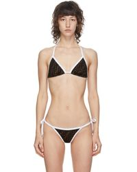 Fendi Black And Brown Forever Bikini