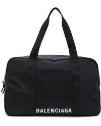 Balenciaga ブラック エコニール® ロゴ ダッフル バッグ