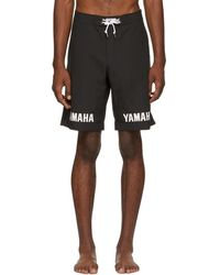 John Elliott - Black Yamaha Edition Logo Swim Shorts - Lyst