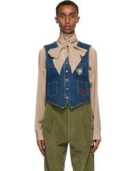 Gucci Blue Disney Edition Eco-washed Denim Vest