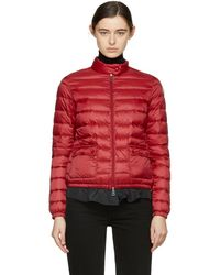 Moncler - Red Down Lans Jacket - Lyst