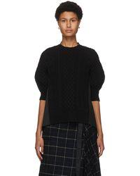 Sacai ブラック ウール セーター