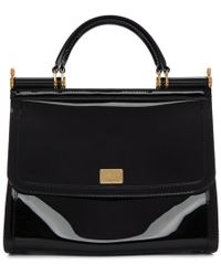Dolce & Gabbana - Black Small Rubber Miss Sicily Bag - Lyst