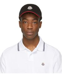 Moncler - Black Logo Cap - Lyst
