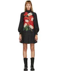 Undercover ブラック Rose And Razor ブレード ドレス