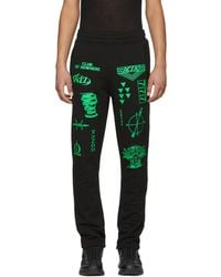 KTZ | Black And Green Patch 004 Lounge Trousers | Lyst