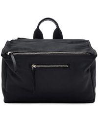 Givenchy - Black Leather Pandora Messenger Bag - Lyst