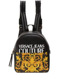Versace Jeans Couture - ブラック And イエロー スモール Baroque バックパック - Lyst