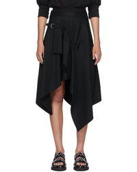 3.1 Phillip Lim ブラック ハンカチーフ スカート