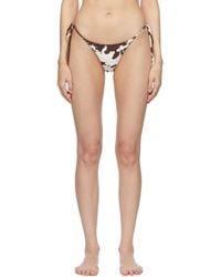 Miaou Off-white & Brown Kauia Bikini Bottoms