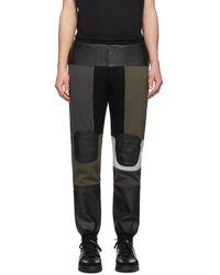 GR-Uniforma Khaki Patchwork Lounge Trousers - Black