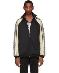 Gucci グッチオーバーサイズ テクニカルジャージー ジャケット - ブラック
