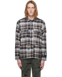 Reese Cooper Multicolour Flannel Shirt - Brown