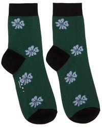 Marni Green And Black Clover Socks