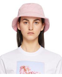 McQ Corduroy Bucket Hat - Pink