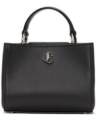 Jimmy Choo Black Mini Varenne Top Handle Bag