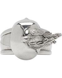 Alexander McQueen - Silver Raven And Skull Ring - Lyst